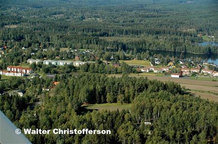Hyreshusen vid Dungen och norra delen av Bögatan.