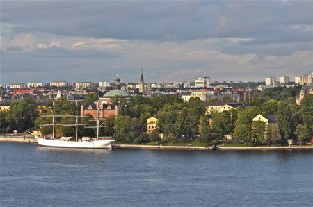 Paus i Stockholm.