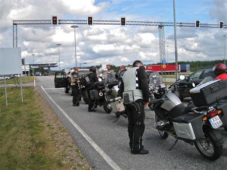 Köbildning vid gränpassagen till Ryssland.