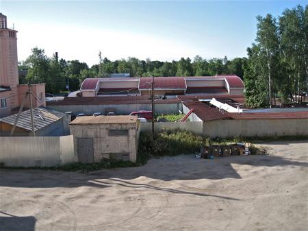 Utsikt från hotellet i Priozersk.