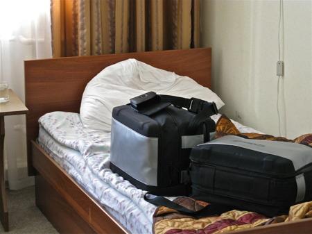 Klart för avfärd från hotellet i  Priozersk.