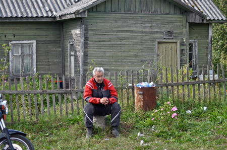 Stopp vid butik mellan Priozersk och Petrozavodsk.
