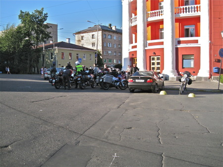Ankomst till hotellet i Petrozavodsk.