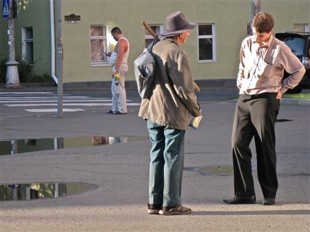 Lokalbefolkning i Petrozavodsk.