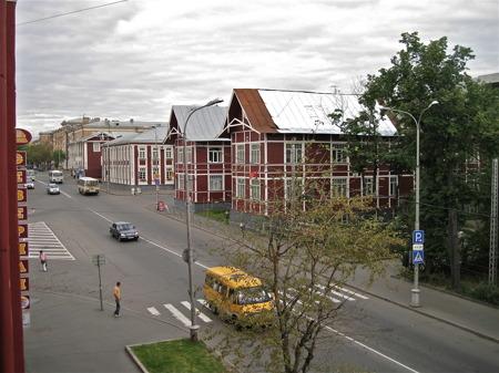 Utsikt från hotellet i Petrozavodsk.