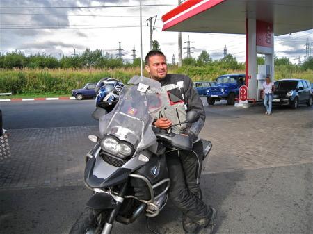 Tankning i Petrozavodsk.