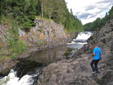 Kivach - Europas näst högsta vattenfall, enligt ryssarna.