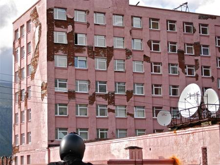 Byggnad i Kirovsk.