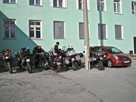 Ankomst till hotellet i Kirovsk.