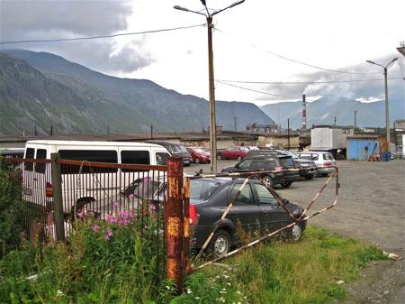 Parkering i Kirovsk.