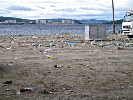 Dagen efter MC-träffen i Murmansk.