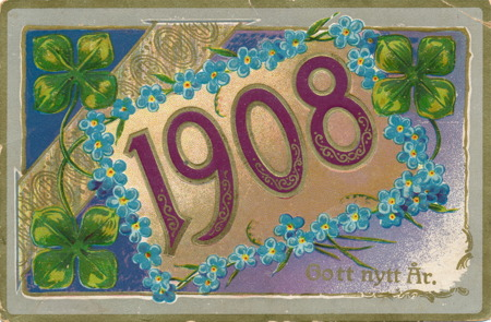 Nyårskort från 1907