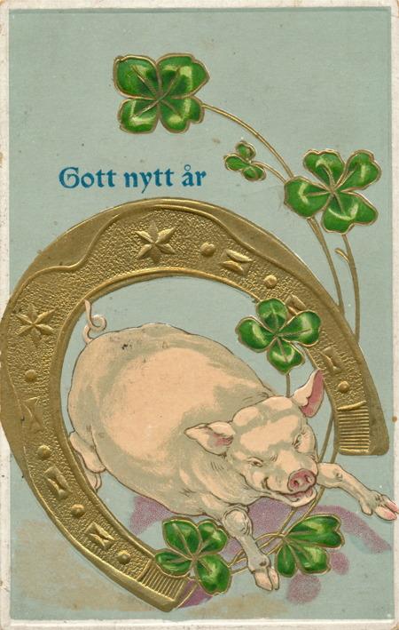 Nyårskort från 1917