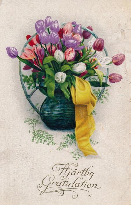 Gratulationskort från 1921