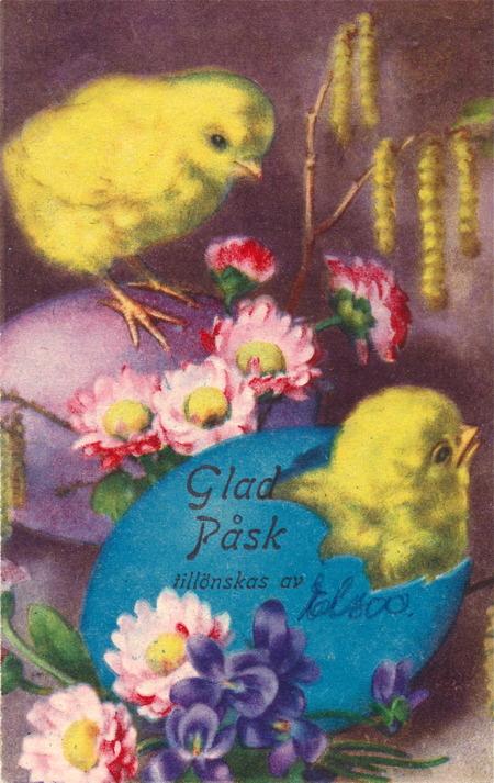 Påsk kort från 1933