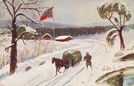 Julkort från 1934