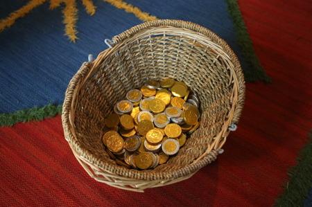 Alla mynten hittades i skattjakten.