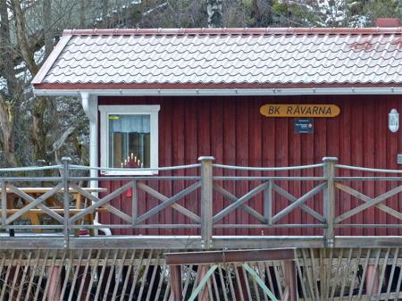 Julstämning i båtklubbens servicebyggnad.