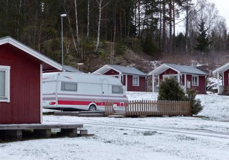 Det är stilla och tyst på Sandvikens camping.