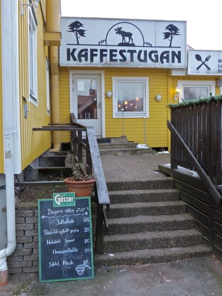 Så var det dags att äta lunch/middag på Kaffestugan i Töcksfors centrum.