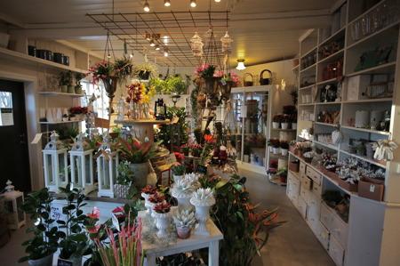 Ellinor hade fyllt Blomsterboden med mycket advents- och julglädje.