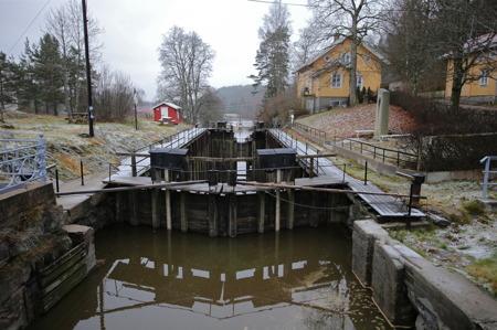 Örje Slussar ligger i vintervila.
