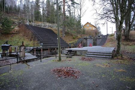 Friluftsteatern vid Örje Slussar.