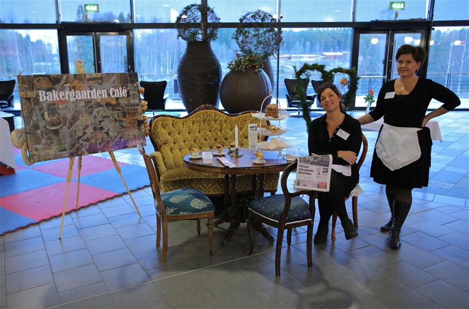 Bakergaarden Café i Örje fanns på plats i Töcksfors Shoppingcenter, på mässan Möjligheternas Grenseland 7 november 2014.