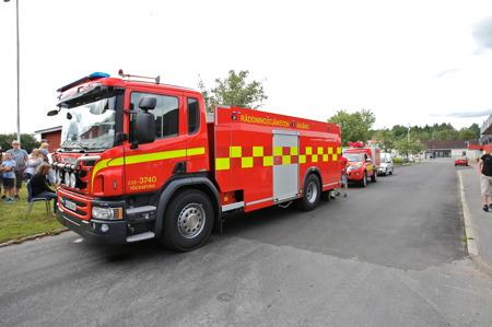 Räddningstjänstens nya tankbil.