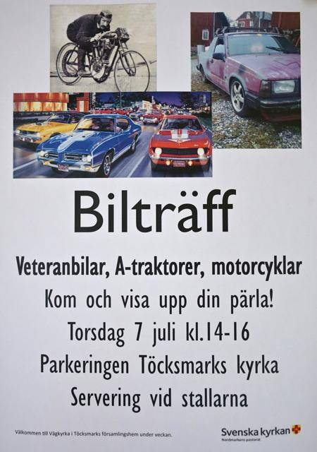 7 juli 2016 - Bilträff vid kyrkan, se särskild bildsida.
