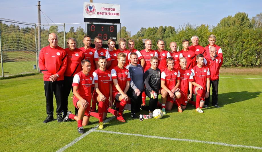 Här är laget som gjorde det, bilden togs före match därför 0 - 0 på tavlan.