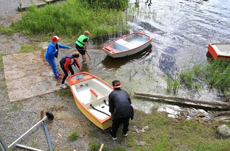 29 juni 2015 - Så var det dags för sjösättning.