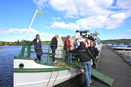 Ombordstigning på M/S Storholmen.