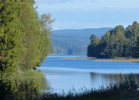 Torsviken och sjön Töck, vackert som vanligt.