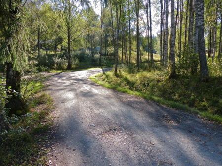 Vägen till Hytta.