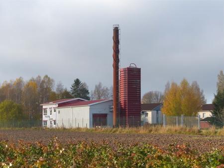 Den gamla fjärrvärmepannan vid Bögatan är nu bortkopplad från fjärrvärmenätet.