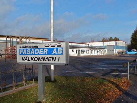 Nordmarkens Fasader AB - ett av många företag i Töcksfors.