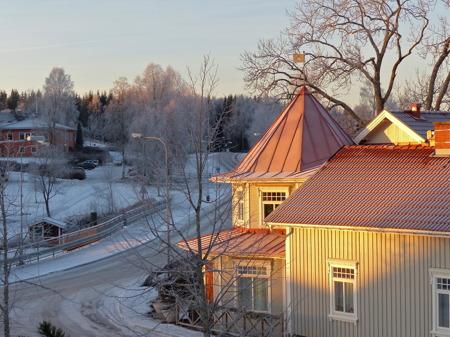 Solen går upp över Töcksfors.