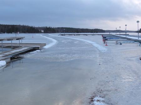 Lite mer kyla kan göra isvägen från Sandviken till Västra Fågelvik användbar.