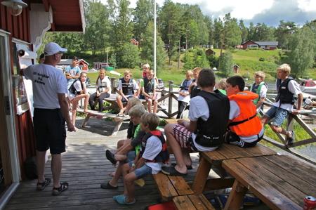 Göran informerade om vilka regler som gäller under regattan.