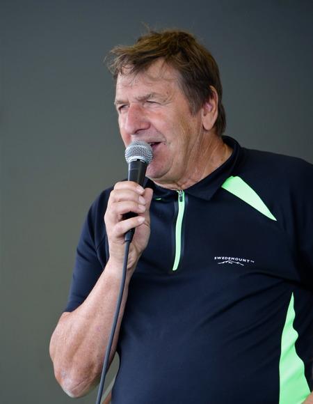 Thore Berglund hälsade alla välkomna till 37:e Töcksmarksveckan.
