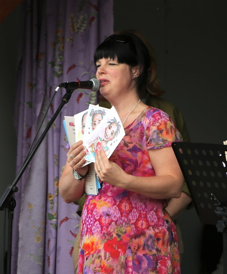 Mathilda Röjdemo informerade om Pingstkyrkans hjälpverksamhet på Afrikas Horn.
