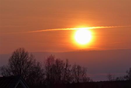 Solnedgång vid gränsen till Norge.