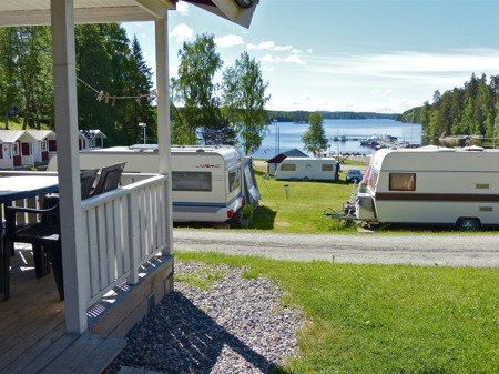 Töcksfors Camping & Fritid vid sjön Foxen.