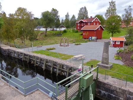 Kanalparken vid övre slussen i Töcksfors.