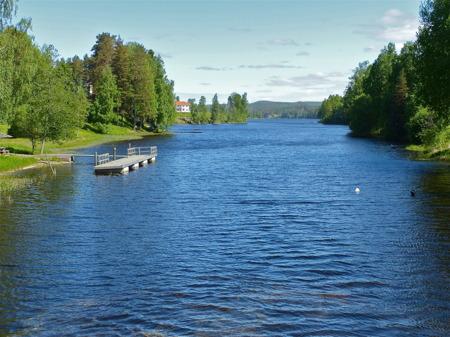 Sjön Töck vid Turistgården.