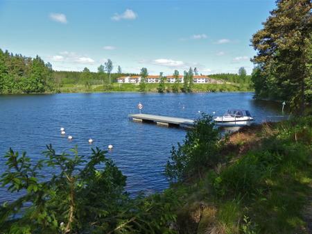 Nya bostadsområdet på Prästnäset vid sjön Töck.