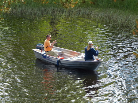 Möjlighet till fiske i en lugn vik.