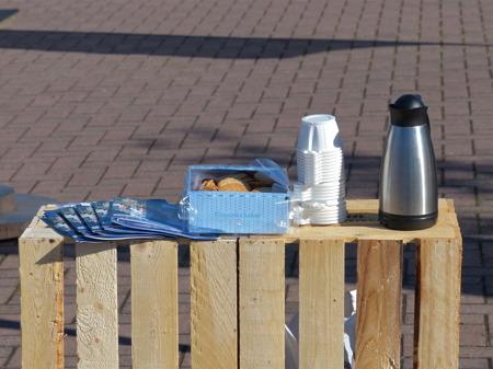 På torget bjöds det också på kaffe.