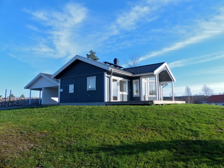Nybyggd villa till salu på Prästnäset.